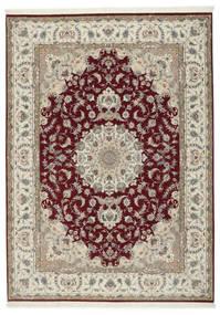 Tabriz 50 Raj With Silk Rug 248X347 Authentic  Oriental Handknotted Light Grey/Dark Red (Wool/Silk, Persia/Iran)