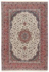 Isfahan Silk Warp Rug 255X374 Authentic  Oriental Handknotted Light Grey/Brown Large (Wool/Silk, Persia/Iran)