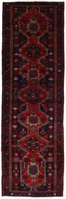 Hamadan Rug 96X300 Authentic  Oriental Handknotted Hallway Runner  Dark Red (Wool, Persia/Iran)