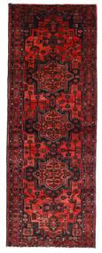Hamadan Rug 104X290 Authentic  Oriental Handknotted Hallway Runner  Dark Red/Rust Red (Wool, Persia/Iran)