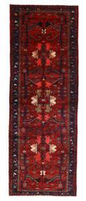 Hamadan Rug 107X304 Authentic  Oriental Handknotted Hallway Runner  Dark Red/Rust Red (Wool, Persia/Iran)