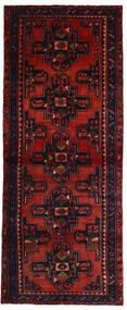 Hamadan Rug 118X296 Authentic  Oriental Handknotted Hallway Runner  Dark Red/Rust Red (Wool, Persia/Iran)