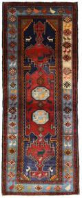 Hamadan Rug 111X279 Authentic  Oriental Handknotted Hallway Runner  Dark Red/Dark Brown (Wool, Persia/Iran)