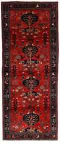 Hamadan Rug 115X300 Authentic  Oriental Handknotted Hallway Runner  Dark Red/Dark Brown (Wool, Persia/Iran)