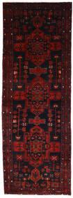 Hamadan Rug 107X303 Authentic  Oriental Handknotted Hallway Runner  Dark Red/Rust Red (Wool, Persia/Iran)