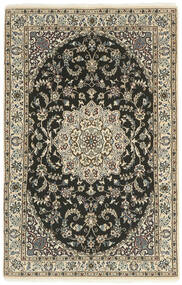 Nain 9La Rug 100X157 Authentic  Oriental Handknotted Dark Grey/Light Grey (Wool/Silk, Persia/Iran)