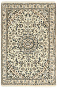 Nain 9La Rug 98X150 Authentic  Oriental Handknotted Beige/Light Grey (Wool/Silk, Persia/Iran)