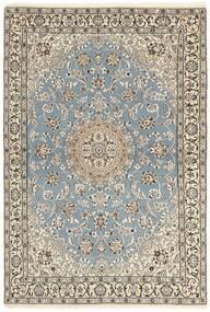 Nain 9La Rug 115X175 Authentic  Oriental Handknotted Light Grey/Beige (Wool/Silk, Persia/Iran)