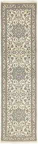 Nain 9La Rug 73X290 Authentic  Oriental Handknotted Hallway Runner  Light Grey/Beige (Wool/Silk, Persia/Iran)