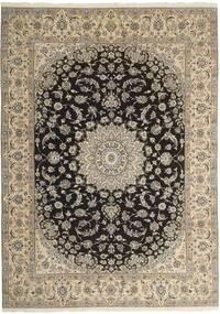 Nain 9La Rug 247X340 Authentic  Oriental Handknotted Light Grey/Beige (Wool/Silk, Persia/Iran)
