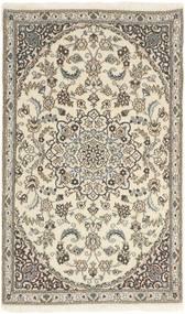 Nain 9La Rug 86X145 Authentic Oriental Handknotted Light Grey/Beige (Wool/Silk, Persia/Iran)
