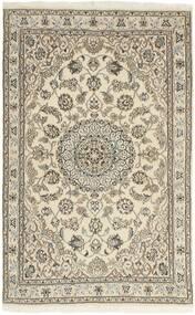 Nain 9La Rug 98X155 Authentic  Oriental Handknotted Light Grey/Beige (Wool/Silk, Persia/Iran)