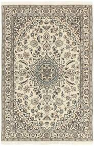Nain 9La Rug 114X178 Authentic  Oriental Handknotted Light Grey/Beige (Wool/Silk, Persia/Iran)