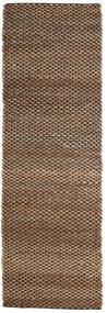 Outdoor Rug Siri Jute - Natural/Black Rug 80X250 Authentic  Modern Handwoven Hallway Runner  Brown/Dark Brown (Jute Rug India)