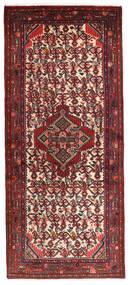 Hamadan Rug 78X185 Authentic Oriental Handknotted Hallway Runner Dark Red/Dark Brown (Wool, Persia/Iran)