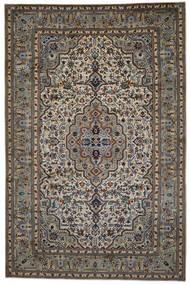 Keshan Rug 254X387 Authentic  Oriental Handknotted Dark Grey/Light Grey Large (Wool, Persia/Iran)