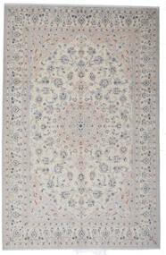 Nain 9La Rug 200X308 Authentic  Oriental Handknotted Light Grey (Wool/Silk, Persia/Iran)