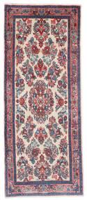 Sarouk Rug 65X162 Authentic  Oriental Handknotted Hallway Runner  Dark Grey/Light Grey (Wool, Persia/Iran)