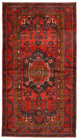 Hamadan Rug 140X254 Authentic Oriental Handknotted Dark Red/Dark Brown/Rust Red (Wool, Persia/Iran)