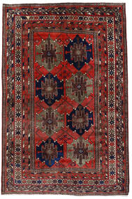 Mahal Rug 153X227 Authentic  Oriental Handknotted Dark Red (Wool, Persia/Iran)