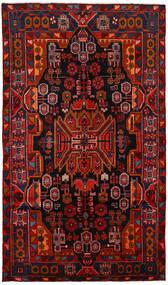 Nahavand Rug 150X260 Authentic  Oriental Handknotted Dark Brown/Dark Red/Rust Red (Wool, Persia/Iran)