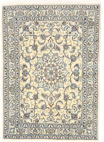 Nain Rug 147X208 Authentic  Oriental Handknotted Beige/Light Grey (Wool, Persia/Iran)