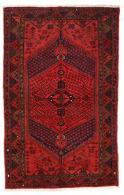 Zanjan Rug 126X205 Authentic Oriental Handknotted Dark Red/Dark Brown/Rust Red (Wool, Persia/Iran)