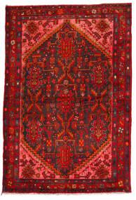 Hamadan Rug 135X205 Authentic Oriental Handknotted Dark Red/Rust Red (Wool, Persia/Iran)