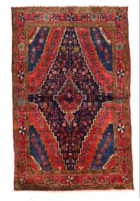 Najafabad Rug 136X218 Authentic  Oriental Handknotted Dark Purple/Dark Red (Wool, Persia/Iran)