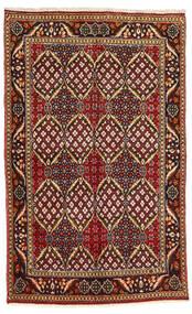 Hamadan Rug 130X212 Authentic Oriental Handknotted Dark Brown/Dark Red (Wool, Persia/Iran)