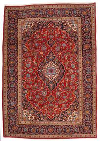 Keshan Rug 210X295 Authentic  Oriental Handknotted Dark Red/Rust Red (Wool, Persia/Iran)