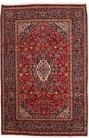 Keshan Rug 198X302 Authentic  Oriental Handknotted Dark Red (Wool, Persia/Iran)