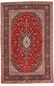 Keshan Rug 192X303 Authentic  Oriental Handknotted Dark Red/Dark Brown (Wool, Persia/Iran)