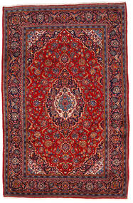 Keshan Rug 202X310 Authentic  Oriental Handknotted Dark Red/Rust Red (Wool, Persia/Iran)