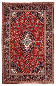 Keshan Rug 190X295 Authentic  Oriental Handknotted Dark Red/Dark Purple (Wool, Persia/Iran)