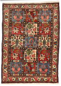 Bakhtiari Collectible Rug 114X158 Authentic  Oriental Handknotted Black/Dark Green (Wool, Persia/Iran)