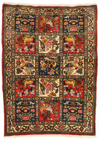 Bakhtiari Collectible Rug 107X145 Authentic  Oriental Handknotted Black/Crimson Red (Wool, Persia/Iran)