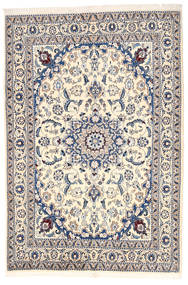 Nain Rug 164X240 Authentic  Oriental Handknotted Light Grey/Beige (Wool, Persia/Iran)