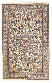 Nain Rug 165X250 Authentic Oriental Handknotted Beige/White/Creme (Wool, Persia/Iran)