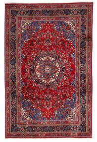 Mashad Rug 195X300 Authentic  Oriental Handknotted Dark Red/Crimson Red (Wool, Persia/Iran)