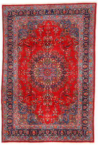 Mashad Rug 198X295 Authentic  Oriental Handknotted Dark Red/Rust Red (Wool, Persia/Iran)