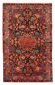 Nahavand Old Rug 150X240 Authentic  Oriental Handknotted Dark Red/Black (Wool, Persia/Iran)