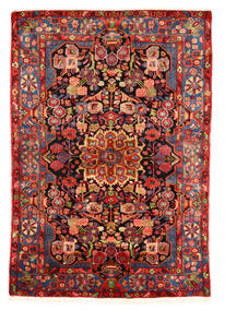 Nahavand Old Rug 153X220 Authentic  Oriental Handknotted Dark Red/Rust Red (Wool, Persia/Iran)
