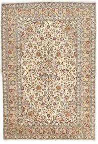 Keshan Rug 200X295 Authentic  Oriental Handknotted Beige/Dark Brown (Wool, Persia/Iran)