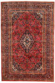 Keshan Rug 190X290 Authentic  Oriental Handknotted Dark Brown/Rust Red (Wool, Persia/Iran)