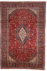Keshan Rug 200X303 Authentic  Oriental Handknotted Dark Red/Brown (Wool, Persia/Iran)