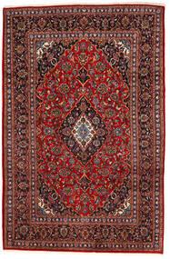 Keshan Rug 195X294 Authentic  Oriental Handknotted Dark Red/Black (Wool, Persia/Iran)