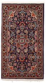Kerman Rug 87X157 Authentic  Oriental Handknotted Dark Red/Black (Wool, Persia/Iran)