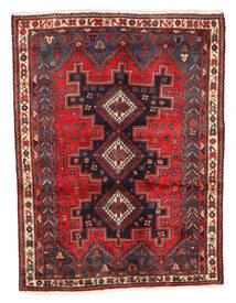 Afshar Rug 125X167 Authentic Oriental Handknotted Dark Red/Dark Brown (Wool, Persia/Iran)