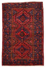 Zanjan Rug 136X208 Authentic  Oriental Handknotted Dark Purple/Dark Red (Wool, Persia/Iran)